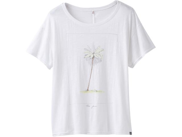 Prana Chez Camiseta manga corta Mujer, white tree pose